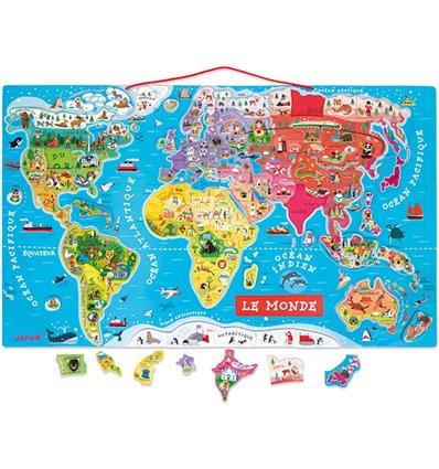 Magnetpuzzle Weltkarte