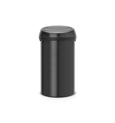Brabantia Touch-Eimer Touch Bin Matt Black 60 l, Anzahl Behälter: 1, Farbe: Schwarz, Eimertyp: Touch-Eimer, Form: Rund, Material