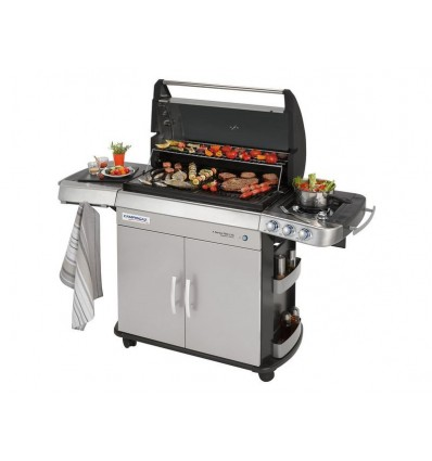 Campingaz Gasgrill 4 Series RBS LXS, Betriebsart: Gasbrenner, Farbe: Silber, Integriertes Thermometer, Anzahl Brenner: 2 ×, Typ: