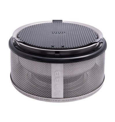 COBB Holzkohlegrill Easy to Go, Betriebsart: Holzkohle, Farbe: Silber, Anzahl Brenner: 0 ×, Typ: Tischgrill Camping-Grill, Zusat