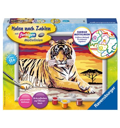 Malset Majestätischer Tiger